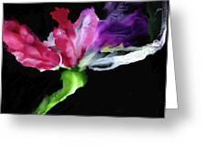 Flower In The Dark 3 Greeting Card