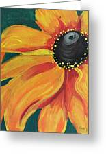 Flower A-blaze Greeting Card