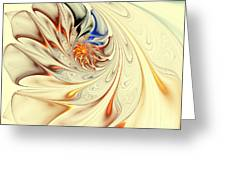 Flower Abstract Light Greeting Card
