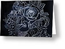 Flower And Bird Scratch Board Greeting Card