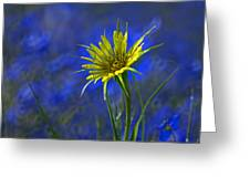 Flower And Flax Greeting Card