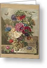 Flower Arrangement, Anthonie Van Den Bos, 1778 - 1838 B Greeting Card