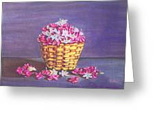 Flower Basket Greeting Card