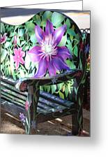 Flower Bench Greeting Card