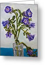 Flower  Bluebells Original Oil Painting Greeting Card