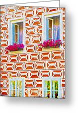 Flower Boxes In Slavonice Greeting Card