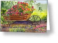 Flower Cart Greeting Card