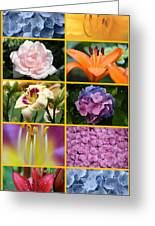 Flower Collage 1 Greeting Card