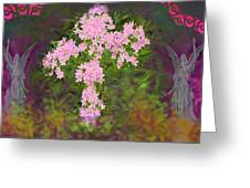 Flower Cross Fancy Greeting Card