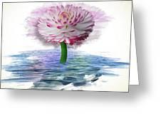 Flower Digital Art Greeting Card
