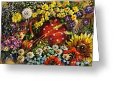 Flower Extravaganza Greeting Card