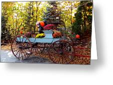 Flower Filled Wagon Greeting Card