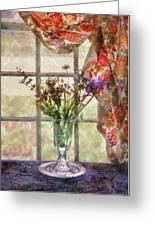 Flower - Flower - A Vase Of Flowers  Greeting Card