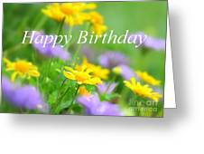 Flower Garden Birthday Card Greeting Card
