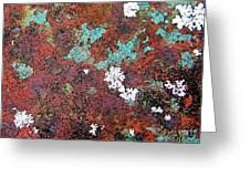 Flower Garden In The Rust Greeting Card