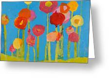 Flower Garden Greeting Card by Laurie Breen