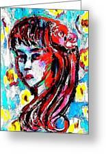 Flower Girl Portrait  Greeting Card