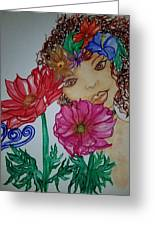 Flower Goddess  Greeting Card