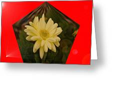 Flower In A Pentagon  Greeting Card