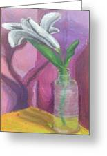 Flower In A Vase. Greeting Card
