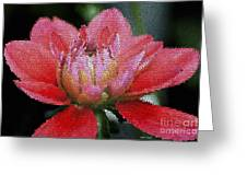 Flower In Stain Glass Greeting Card