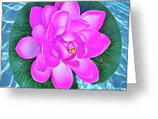 Flower In The Pool Greeting Card
