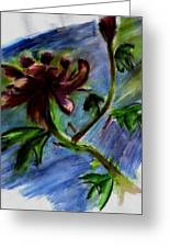 Flower In The Wind Greeting Card