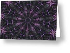 Flower Kaleidoscope Greeting Card