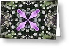 Flower Kaleidoscope_001 Greeting Card