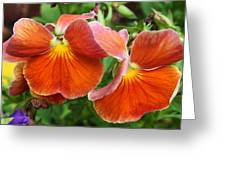 Flower Lips Greeting Card