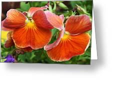 Flower Lips Greeting Card