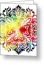 Flower Mandala 3 Greeting Card