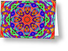 Flower Mandala 4 Greeting Card