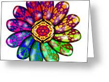 Flower Mandala 6 Greeting Card