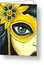 Flower Masquerade Greeting Card
