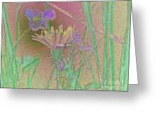 Flower Meadow Line Greeting Card