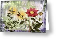 Flower-n Greeting Card
