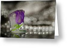 Flower Of Ice Greeting Card