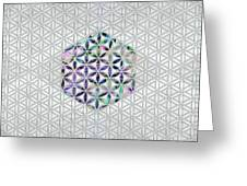 Flower Of Life Abalone Shell On Pearl Greeting Card