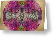 Flower Of Life Greeting Card by Filippo B