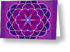 Flower Of Life Greeting Card by Soul Structures