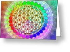 Flower Of Live - Rainbow Lotus 2 Greeting Card