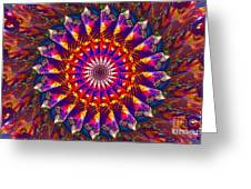 Flower Of The Mind  12- Universal Light And Color Greeting Card