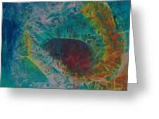 Flower Oil On Canvas 90x100cm Greeting Card