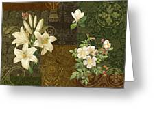 Flower Patchwork 2 Greeting Card