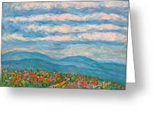 Flower Path To The Blue Ridge Greeting Card