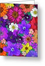 Flower Pond Vertical Greeting Card