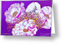 Flower Portrait Painting Greeting Card