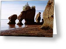 Flower Pot Rocks On The Beach, Hopewell Greeting Card