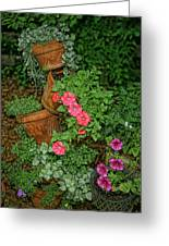 Flower Pot Tapestry Greeting Card